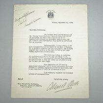 Image of Typed Letter to Bernadette Parkinson - 1934/09/11