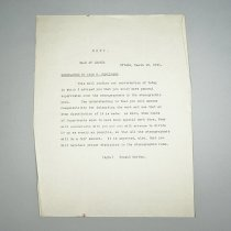 Image of Letter from Donald Gordon to Miss Parkinson - 1935/03/19