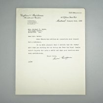 Image of Letter to Mrs. Michael P. Smith - 1943/01/22