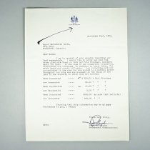 Image of Letter From Bernadette Smith - 1954/09/21