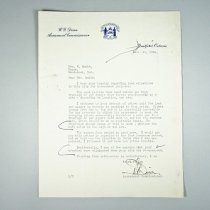 Image of Letter To Bernadette Smith - 1954/09/21