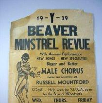 Image of Beaver Minstrel Revue Advertisement - 1939