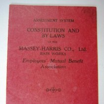 Image of Constitution and By Laws of the Massey Harris Co. Ltd - 1930 C