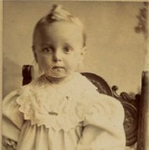 Image of Brignall Relative/Friend? - Toddler Standing on a Chair - 1904 C