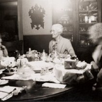 Image of Finkle 130 - Dining Room with Hill Family/Friends - 1938/12/06