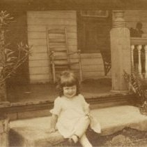 Image of Finkle 130 - Front Porch with Girl - 1924 C