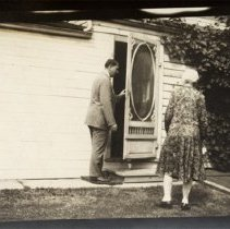 Image of Finkle 130 - Side View with Two People - 1930 C