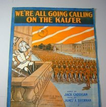 """Image of """"We're All Going Calling on the Kaiser"""" Sheet Music - 1918"""