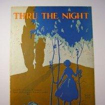"Image of ""Thru the Night"" Sheet Music - 1922"