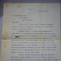 Image of Letter - 1926