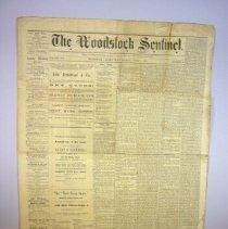 Image of Woodstock Sentinel Newspaper, July 5 1867 - 1867/07/05