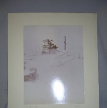 Image of Snow drift at the side of road - 1970 C