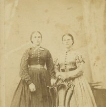 Image of Two unidentified young women - 1877 C