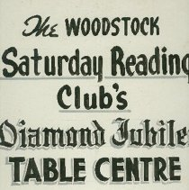 Image of Title Card for the Woodstock Saturday Reading Club - 1956/01/04