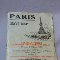 Image of Booklet of Leave Maps for Paris, France - 1945