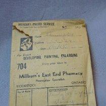 Image of Photograph Envelope from Millburn's East End Pharmacy - 1945