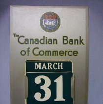 Image of Calendar from The Canadian Bank of Commerce - 1955 C
