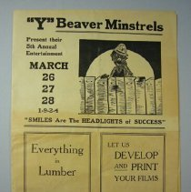 Image of Y Beaver Minstrels Program - 1924/03/26 to 1924/03/28