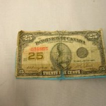 Image of Twenty five cents (Shinplaster) - 1943 C
