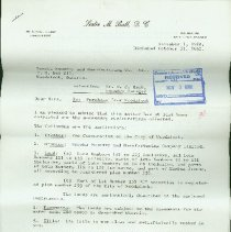Image of Leslie M Ball Letter to Eureka Foundry and Manufacturing Company - 1962/11/01 to 1932/11/01