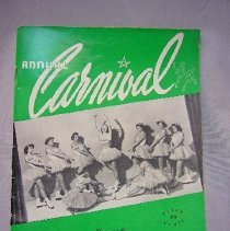 "Image of Skating Program ""Annual Carnival"" - 1950"