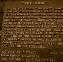 Image of The Firs Historical Plaque - 1980 C