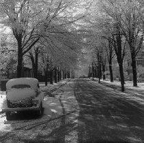 Image of Snowfall in Woodstock - 1947