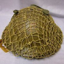 Image of Canadian Military - Helmet with Combat Mesh - 1942 C