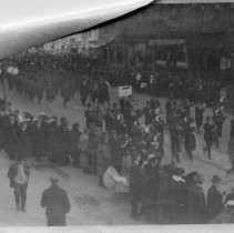 Image of Peace Demonstration- False Armstice- On Dundas - 1918/11/07