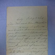Image of Letter - 1906