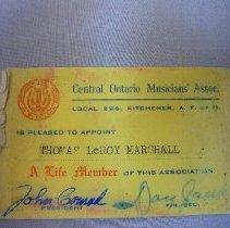 Image of Membership Card - 1950 C