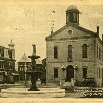 Image of Woodstock City Hall Post Card - 1918 C
