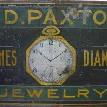 Image of W.D. Paxton Jewelry Sign - 1923 C