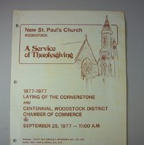 Image of New St. Paul's Church 100 Years Program - 1977/09/25