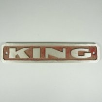 Image of King Fire Engine Nameplate - 1963 C