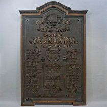 Image of Central United Church World War 1 Memorial Plaque - 1948 C