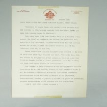 Image of Fire Prevention Week Letter From Fire Chief - 1956/10
