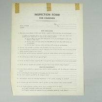 Image of Fire Inspection Form for Churches - 1958