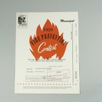 Image of Fire Prevention Week Contest Booklet - 1959/10/30