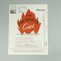 Image of Fire Prevention Week Contest Booklet - 1960/10/31