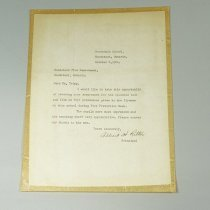 Image of Letter to Fire Chief - 1961/10/06