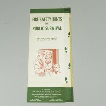 Image of Fire Safety Hints Brochure - 1962