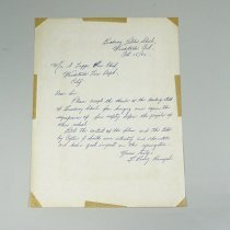 Image of A Letter To Fire Chief - 1962/10/15