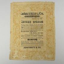 Image of John White & Company Advertisement - 1883/09
