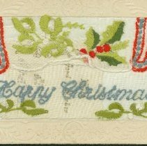Image of Embroidered Greeting Card - 1917