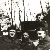 Image of Camp Training - Four Soldiers - 1942 C