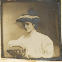 Image of Ross Family / Friend - Woman in Wicker Chair - 1910 C