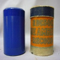 Image of Phonograph Record Cylinder and Container - 1920 C