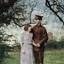 """Image of Postcard """"The Soldier's Good-Bye"""" - 1915 C"""