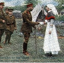"""Image of Postcard """"The King At The Front"""" - 1915 C"""